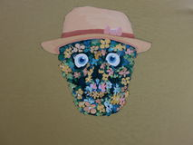 Pintura de acrílico de la sonrisa del cráneo Imagen de archivo libre de regalías