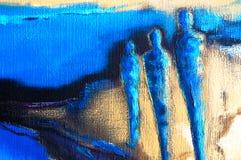 Pintura de acrílico moderna abstracta stock de ilustración