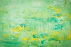 Pintura de acrílico abstracta en lona Imagen de archivo