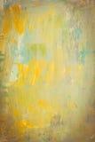 Pintura de acrílico abstracta en lona Foto de archivo