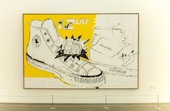 Pintura de Andy Warhol en el der de Pinakothek Moderne en Munich Fotografía de archivo