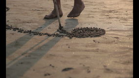 Pintura de arena almacen de metraje de vídeo