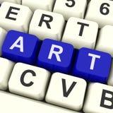 Pintura de Art Key Shows Drawing Or Foto de Stock