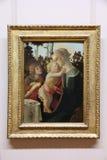 Pintura de Botticelli en lumbrera Imagenes de archivo