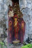 Pintura de Buda en Wat Prayoon Wongsawat Fotos de archivo