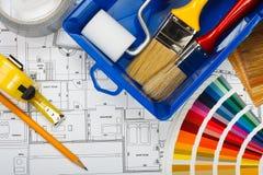 Pintura de casa Fotos de archivo libres de regalías