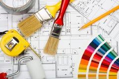 Pintura de casa Imágenes de archivo libres de regalías