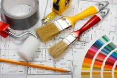 Pintura de casa Imagen de archivo