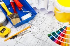 Pintura de casa Fotografía de archivo libre de regalías