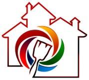 Pintura de casa ilustración del vector