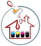 Pintura de casa ilustração royalty free