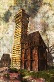 Pintura de casa assombrada Imagem de Stock