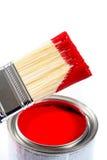 Pintura de casa del látex fotos de archivo