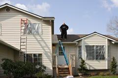 Pintura de casa exterior Fotografia de Stock Royalty Free