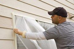 Pintura de casa exterior Fotos de Stock Royalty Free