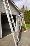 Pintura de casa exterior Imagen de archivo