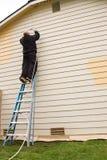 Pintura de casa exterior Imágenes de archivo libres de regalías