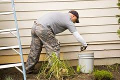 Pintura de casa exterior Foto de Stock Royalty Free