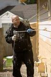 Pintura de casa exterior Fotos de Stock