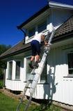 Pintura de casa exterior Imagen de archivo libre de regalías