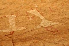 Pintura de caverna dos dançarinos imagem de stock royalty free