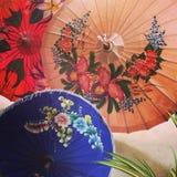 Pintura de Chiang Mai Traditional Umbrella Fotografía de archivo libre de regalías