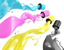 Pintura de CMYK Foto de Stock Royalty Free
