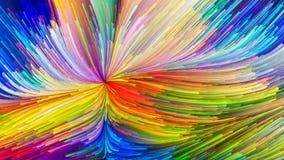 Pintura de computação de Digitas ilustração stock