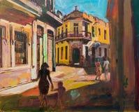 Pintura de Cuba La Habana Imágenes de archivo libres de regalías