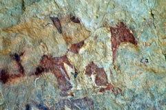Pintura de cuevas del ganado imagen de archivo libre de regalías