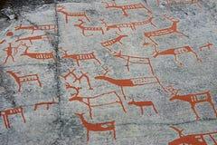 Pintura de cuevas prehistórica Imagen de archivo libre de regalías