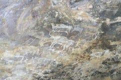 Pintura de cuevas prehistórica en Bhimbetka - la India. Imágenes de archivo libres de regalías