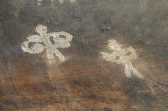 Pintura de cuevas prehistórica en Bhimbetka - la India. Foto de archivo libre de regalías