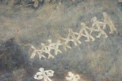Pintura de cuevas prehistórica en Bhimbetka - la India. Fotos de archivo libres de regalías