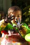 Pintura de dedo 2 Imagem de Stock
