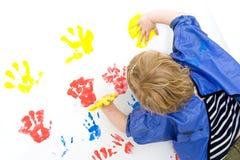 Pintura de dedo Foto de archivo libre de regalías