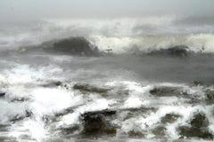 Pintura de Digitaces de un mar ondulado ilustración del vector