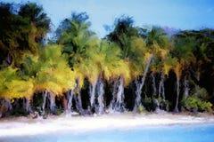 Pintura de Digitaces de un paisaje ilustración del vector