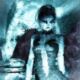 Pintura de Digitaces de una mujer gótica libre illustration