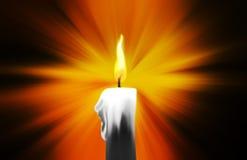 Pintura de Digitas de uma vela ardente imagem de stock