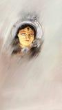 Pintura de Durga ilustração do vetor