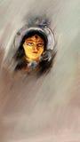 Pintura de Durga Fotos de archivo libres de regalías