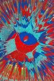 Pintura de espray azul y roja Fotografía de archivo libre de regalías