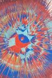 Pintura de espray azul y roja Fotos de archivo