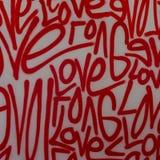 Pintura de espray de la pintada del arte de la calle del amor foto de archivo