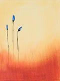 Pintura de flores azules Fotos de archivo libres de regalías