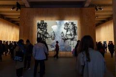A pintura de George Condo dobro intitulado Elvis imagem de stock royalty free