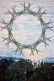 Pintura de Grunge no fundo do metal Fotos de Stock Royalty Free