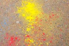 Pintura de Holi Foto de archivo