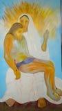 Pintura de Jesus e da Mary Fotografia de Stock